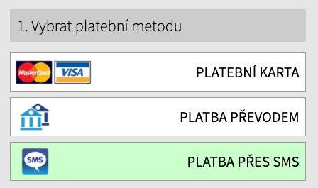 seznamka - opakovane platby